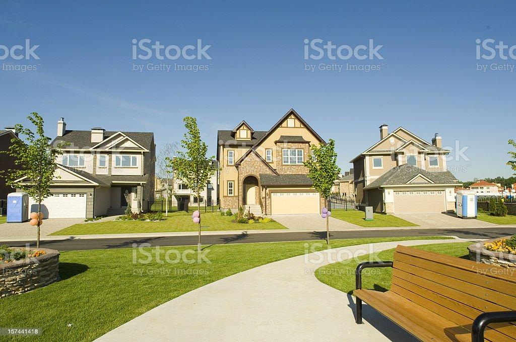 few suburban houses stock photo istock