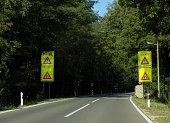 Traffic signs on the highway