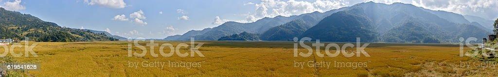 Fewa lake. Annapurna Circuit. Nepal motives. stock photo