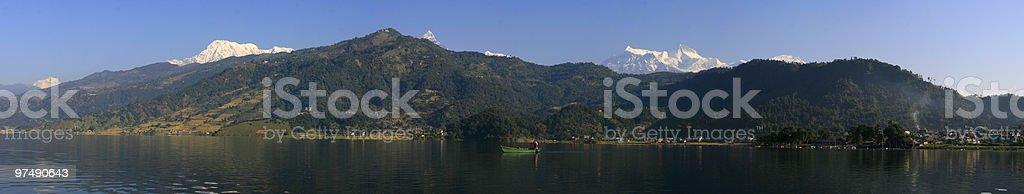Fewa Lake royalty-free stock photo