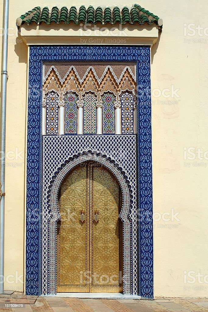 Fez Royal Palace side door. royalty-free stock photo