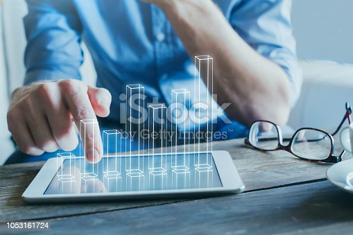 istock fiancial charts, business analytics and statistics, ROI 1053161724