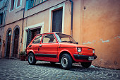 Fiat 126 Bambino in red