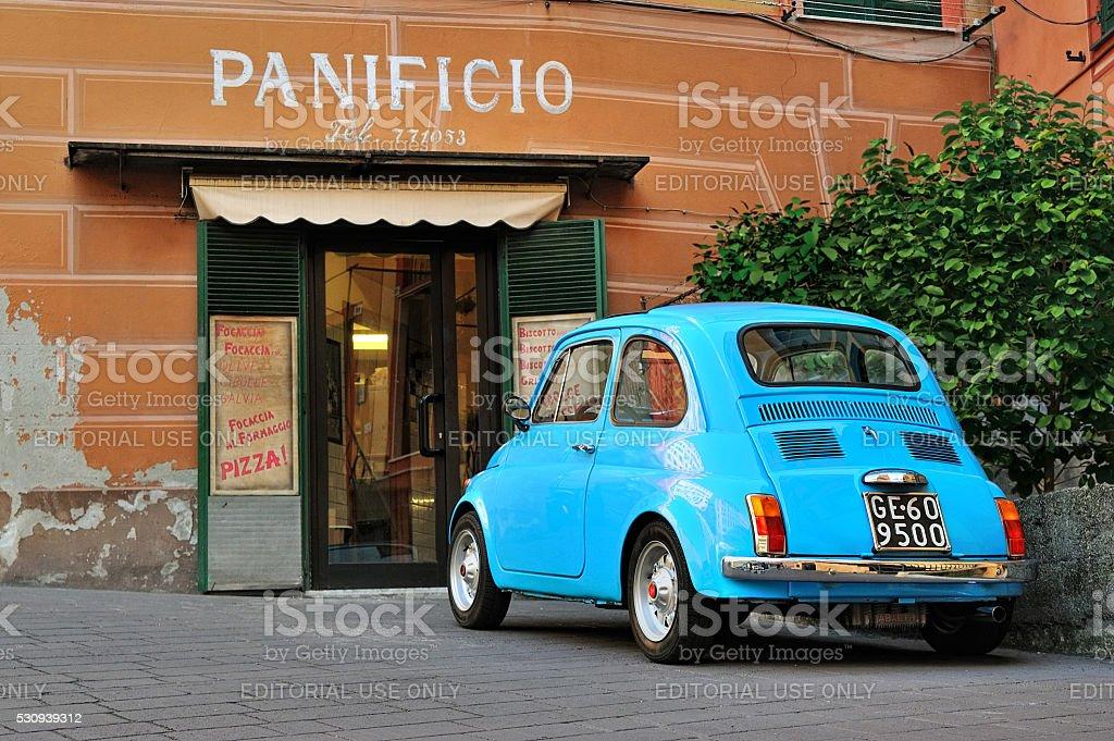 Fiat 500 Abarth on Italian street stock photo
