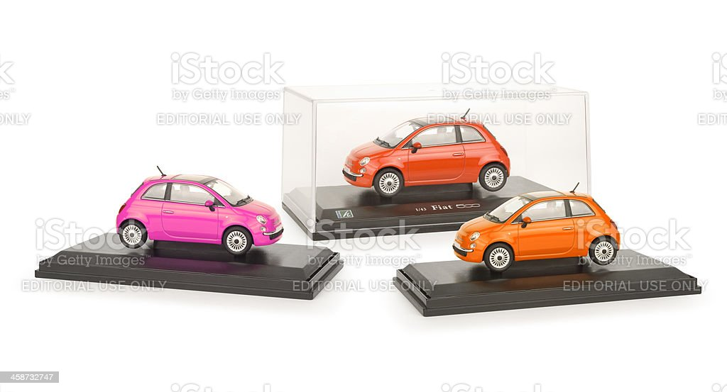 Fiat 500 C 1/43 scale model car royalty-free stock photo