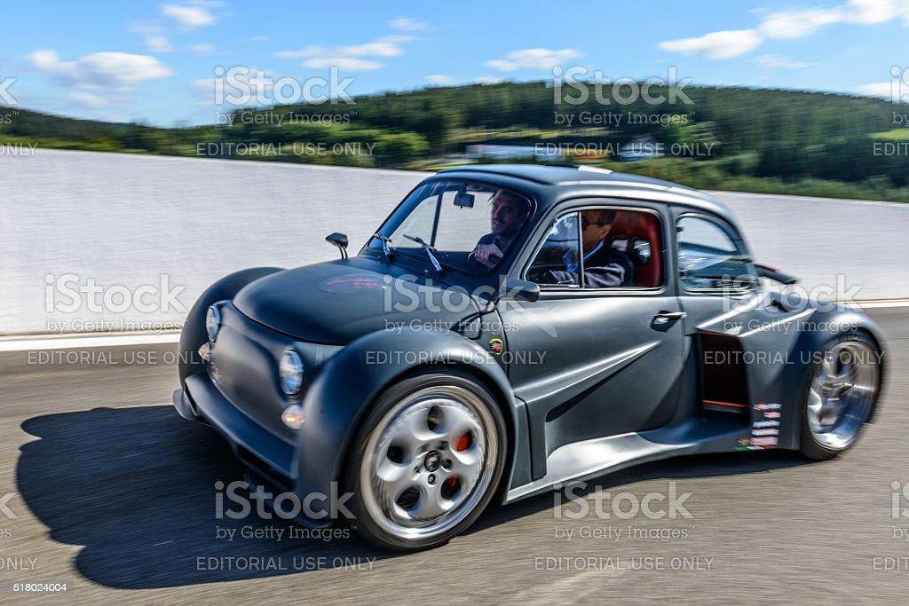 Fiat 500 Murcielago V12 6.2L 580hp Oemmedi Meccanica stock photo