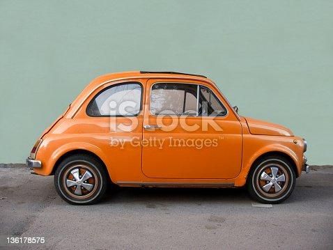 Old Italian classic car.