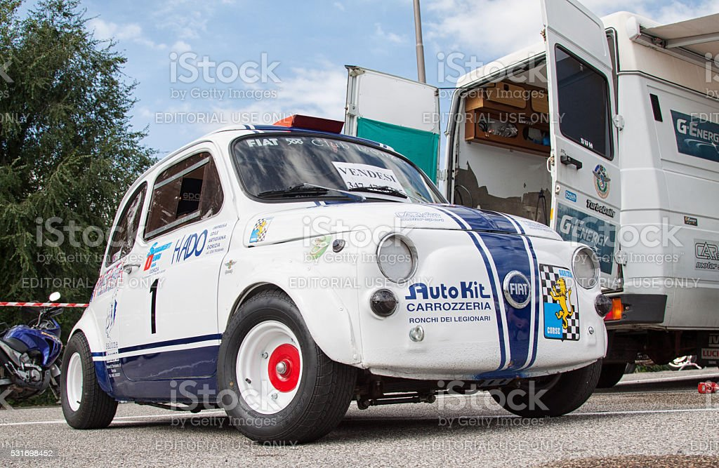 Fiat 500 race car stock photo