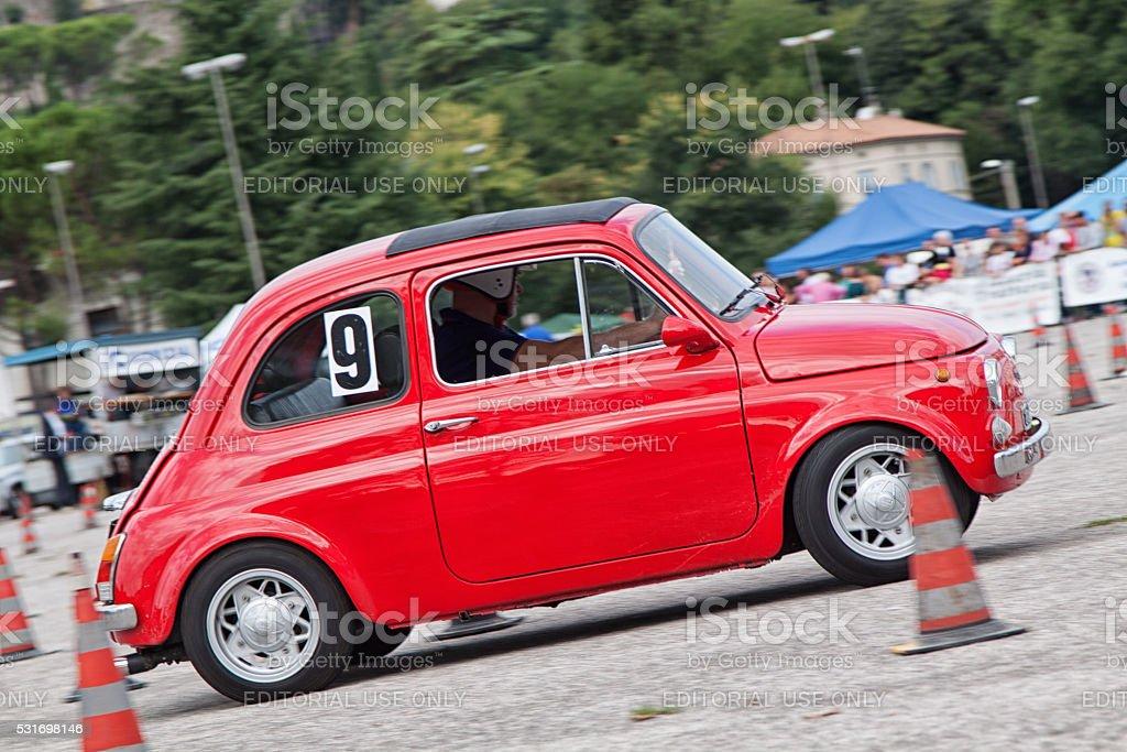Fiat 500 racing stock photo