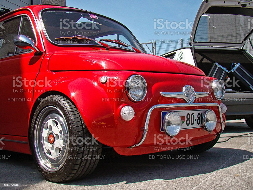 fiat 500 tuning car stock photo more pictures of car. Black Bedroom Furniture Sets. Home Design Ideas