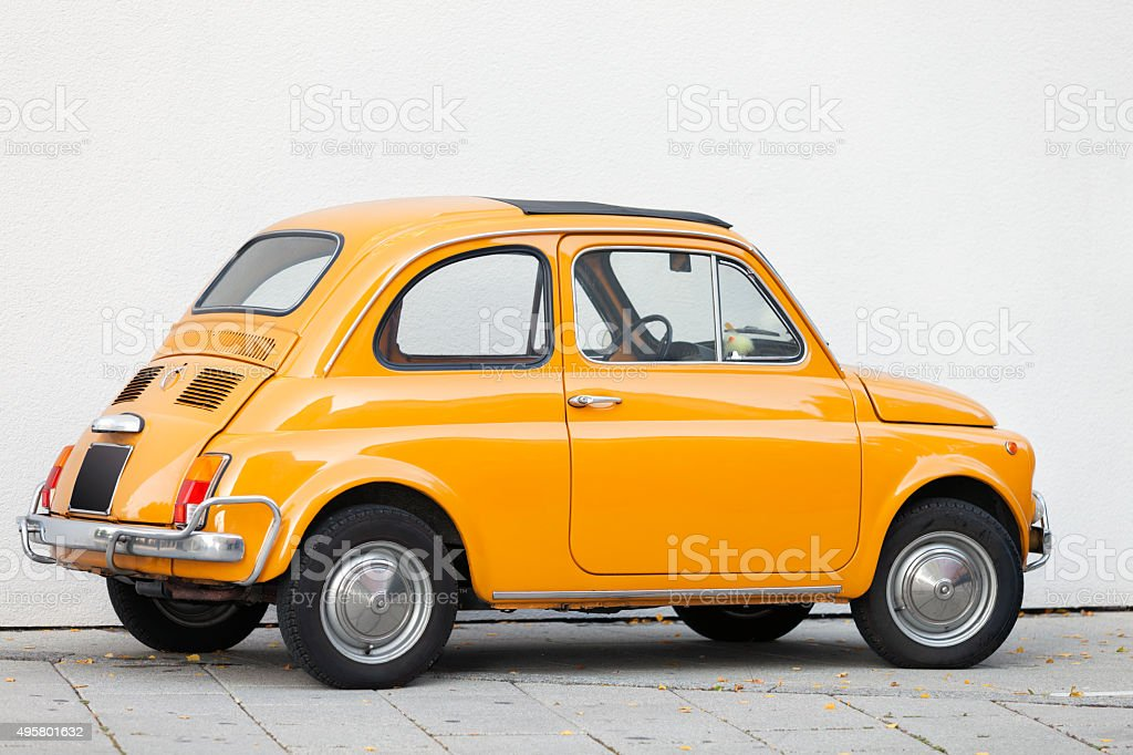 Fiat 500 Vintage Italian Car stock photo