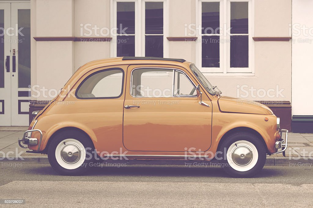 Fiat 500 Vintage retro Italian car stock photo