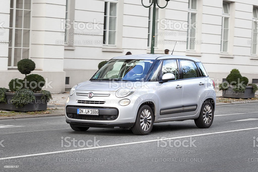 Fiat 500L royalty-free stock photo