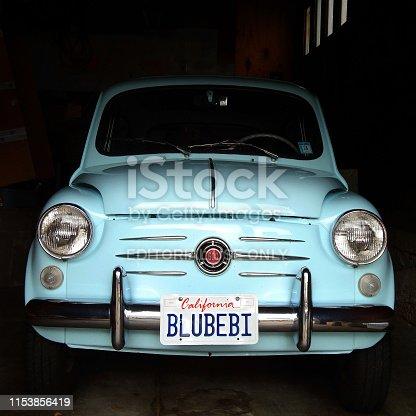 Italian classic Fiat 600 with California