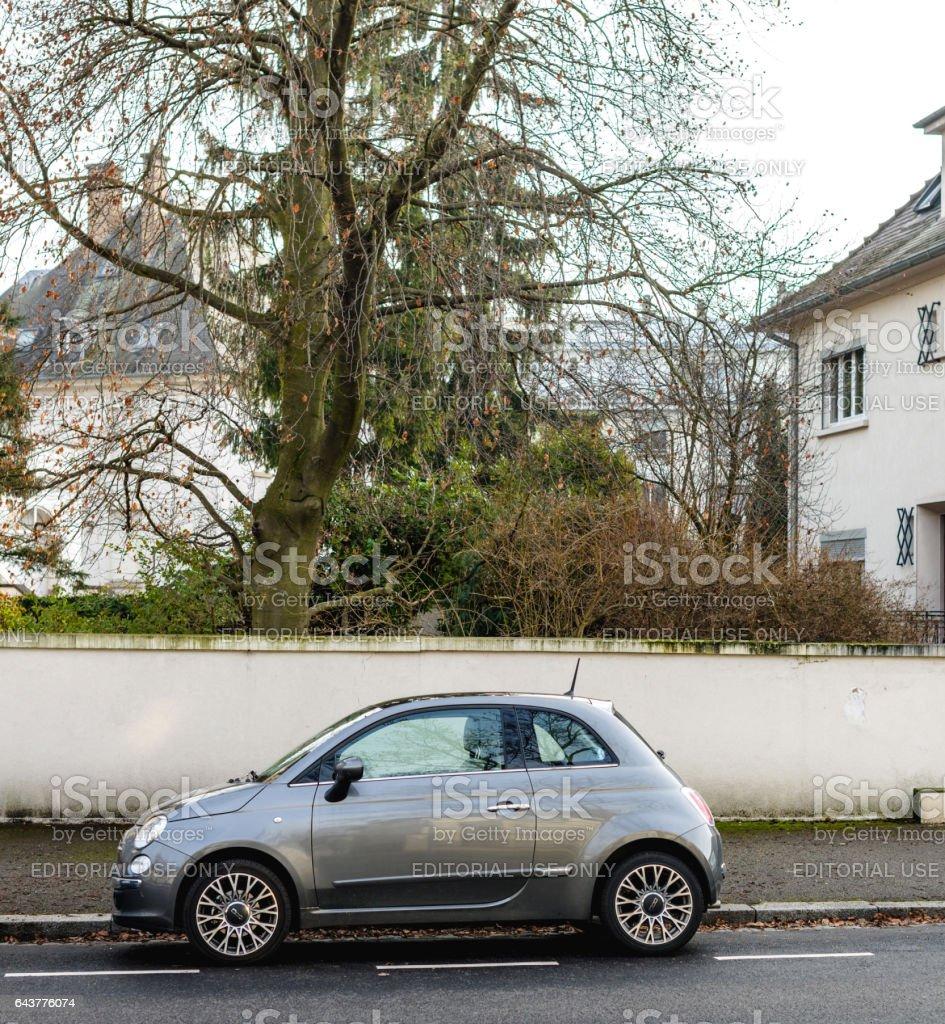 \Fiat Cinquecento 500 on street stock photo