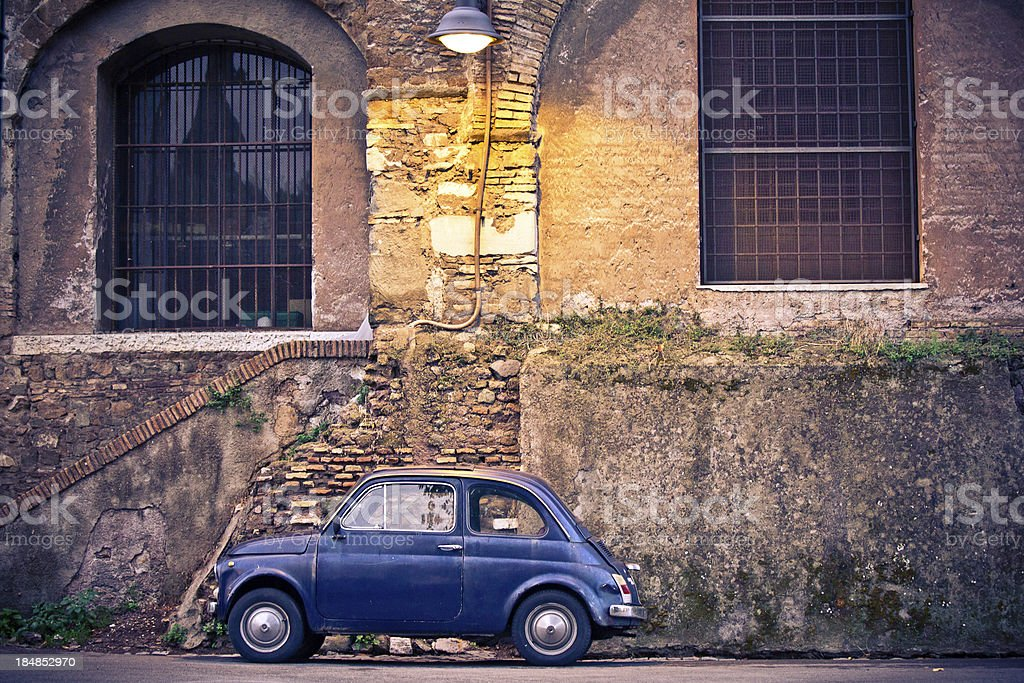 Fiat Cinquecento in Rome royalty-free stock photo