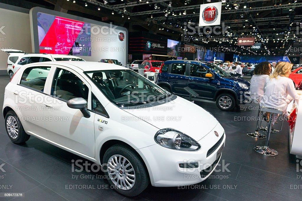Fiat Punto hatchback car stock photo