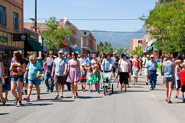 Fibark Whitewater Festival in Salida Colorado 2015 stock photo