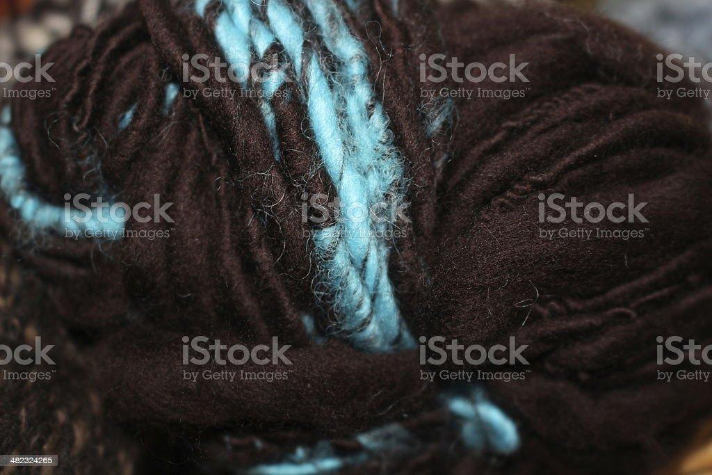 Fiber Craft Home spun Merino wool yarn royalty-free stock photo