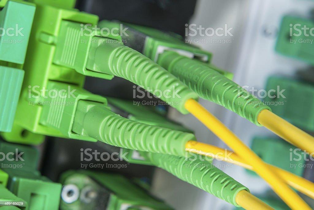 fiber network server royalty-free stock photo
