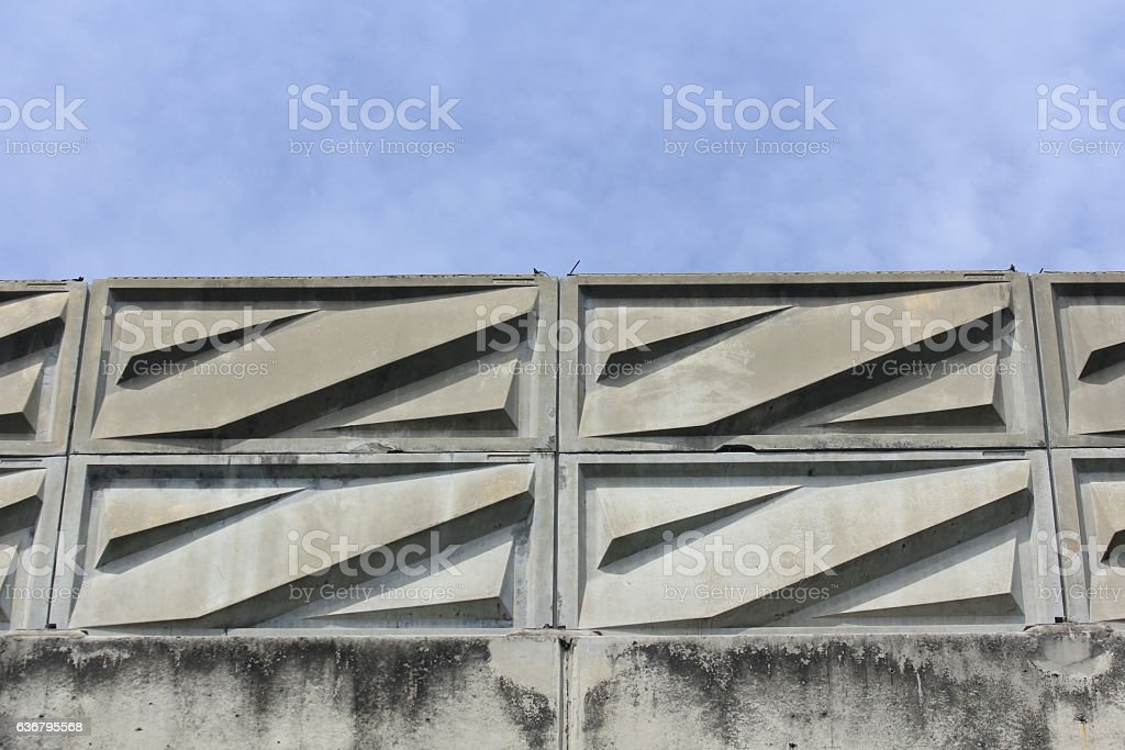 Fiber Noise barrier near road side stock photo