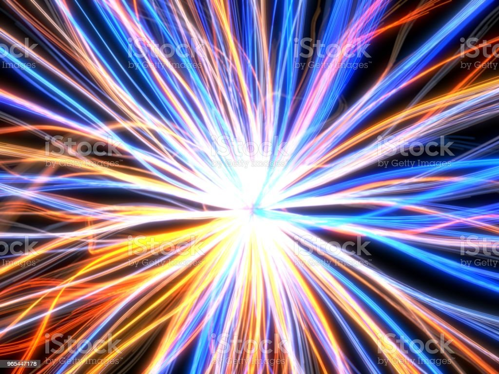 fiber optic cable style abstract design. 3d illustration royalty-free stock photo