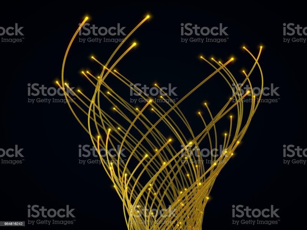 fiber optic cables. 3d illustration stock photo