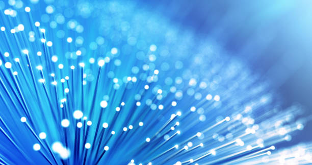 Fiber Optic Cables - Global Data Transfer stock photo