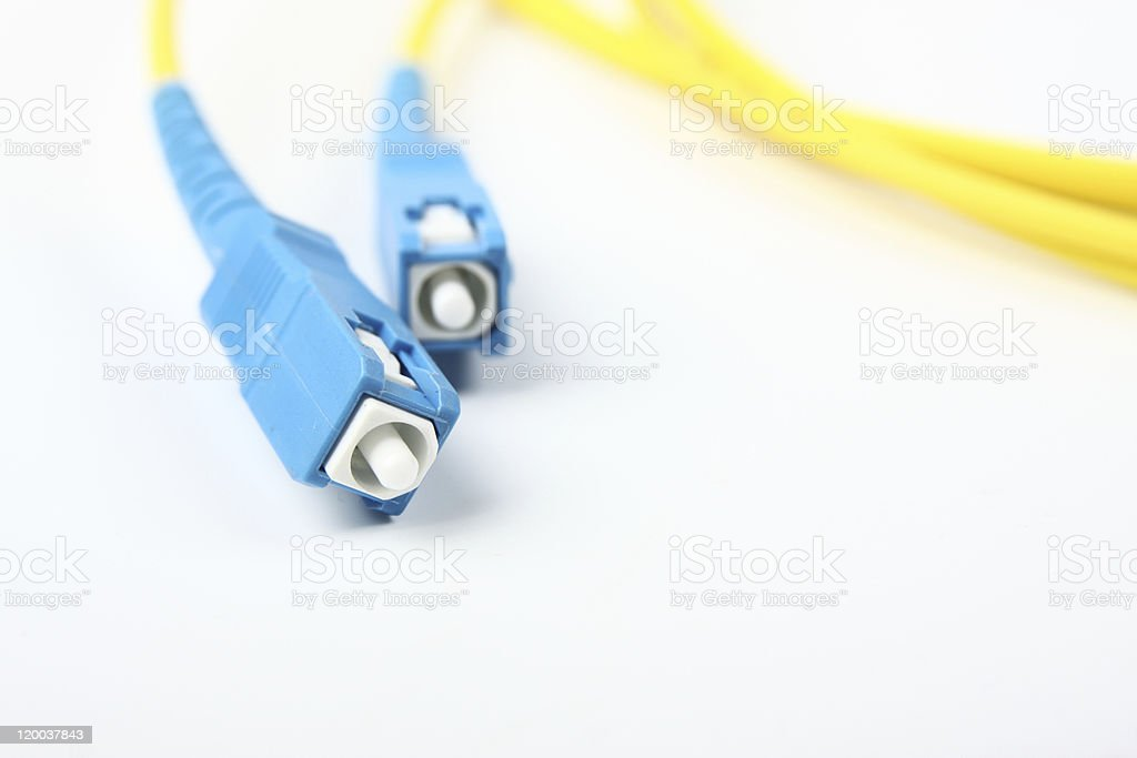 Fiber Optic Cables stock photo
