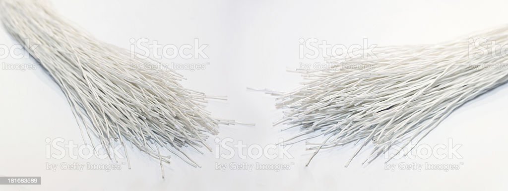 Fiber optic cables royalty-free stock photo