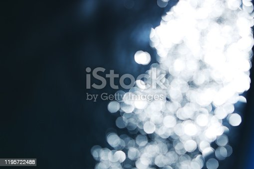 673622922 istock photo A fiber optic concept image consisting of a white and blue bokeh. 1195722488