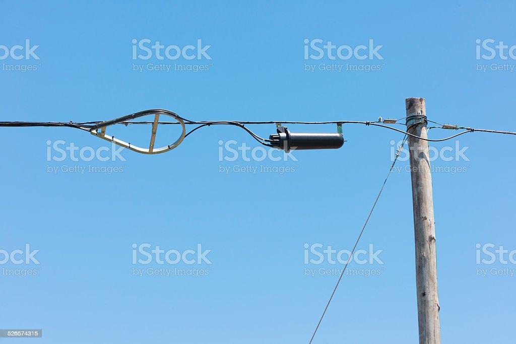 Carcasa de fibra óptica - foto de stock