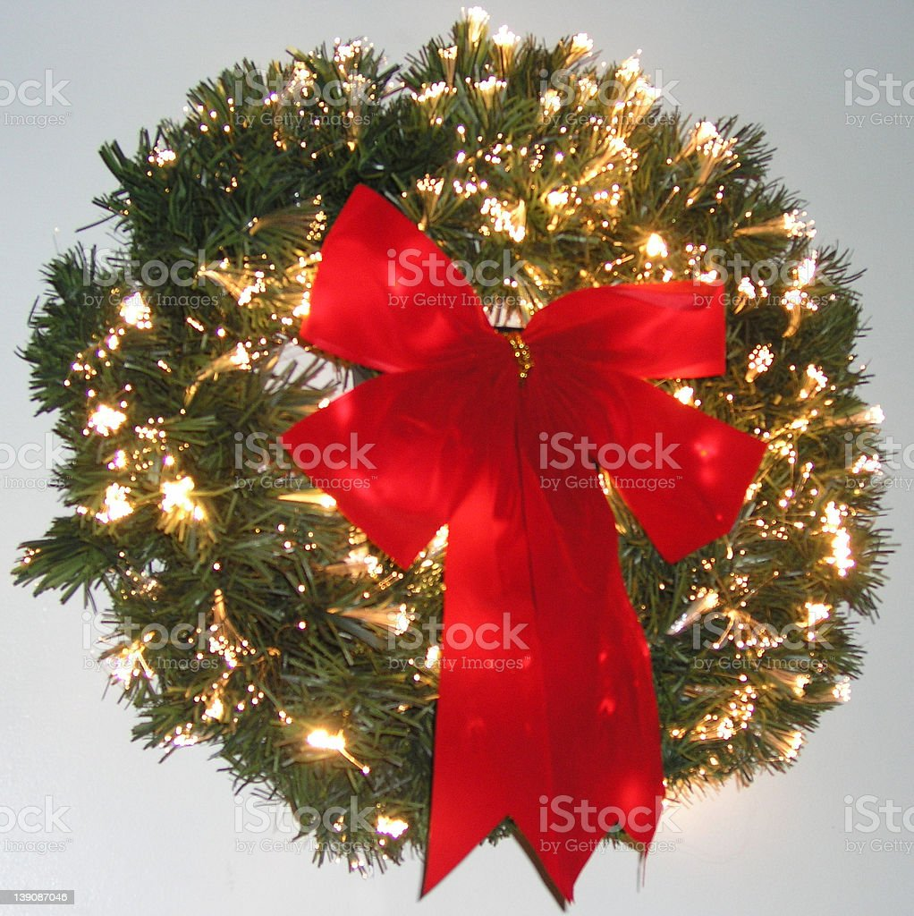 Fiber Optic Wreath royalty-free stock photo