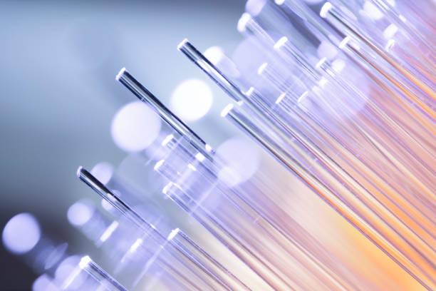 Fiber optics abstract background - Data Internet Technology Cable stock photo