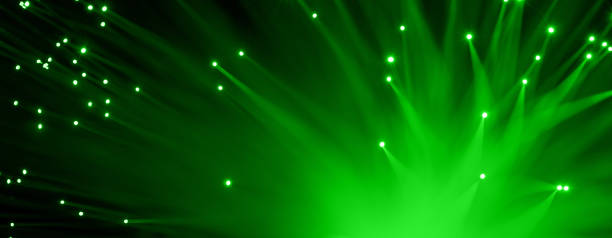 Fiber optics abstract background stock photo