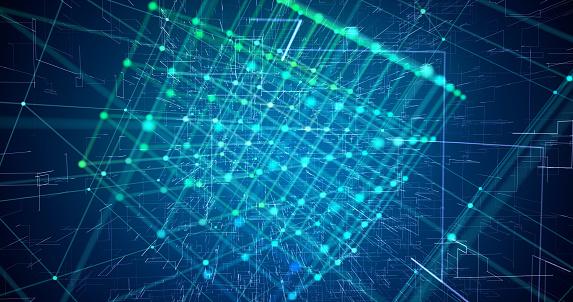 Fiber optics abstract background