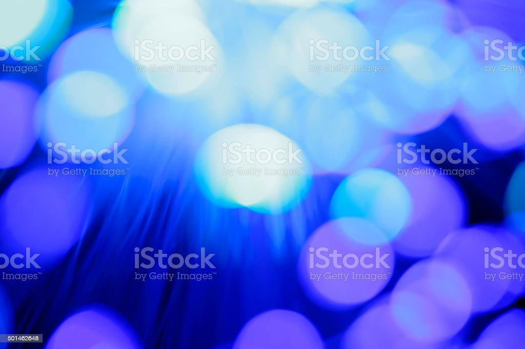 Fiber optics abstract background (purple / blue) stock photo