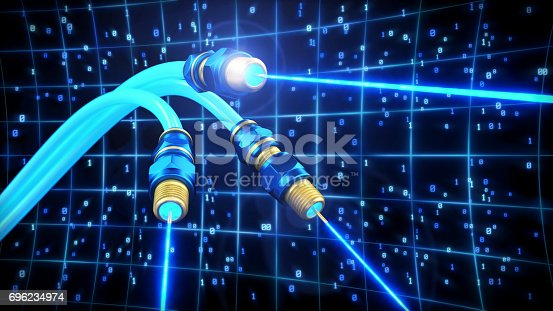 istock Fiber Optics Data Laser 696234974