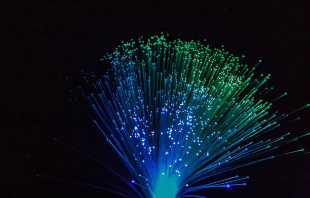 Faseroptik Leuchten abstrakten Hintergrund, Faser-optischen Hintergrund – Foto