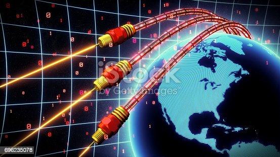 istock Fiber Optics World Red 696235078