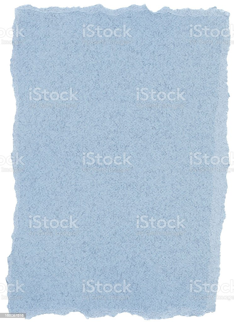 Fiber Paper Texture - Pastel Blue with Torn Edges XXXXL royalty-free stock photo