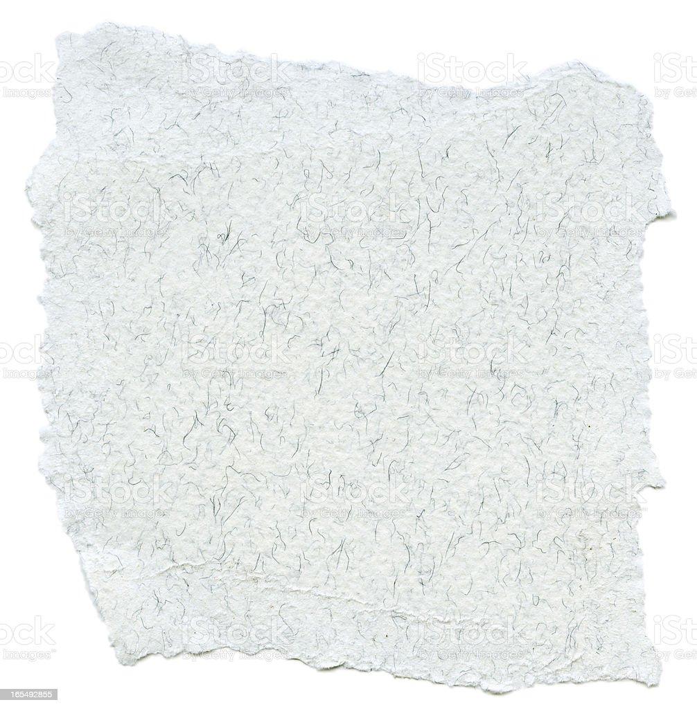 Fiber Paper Texture - White with Torn Edges XXXXL royalty-free stock photo