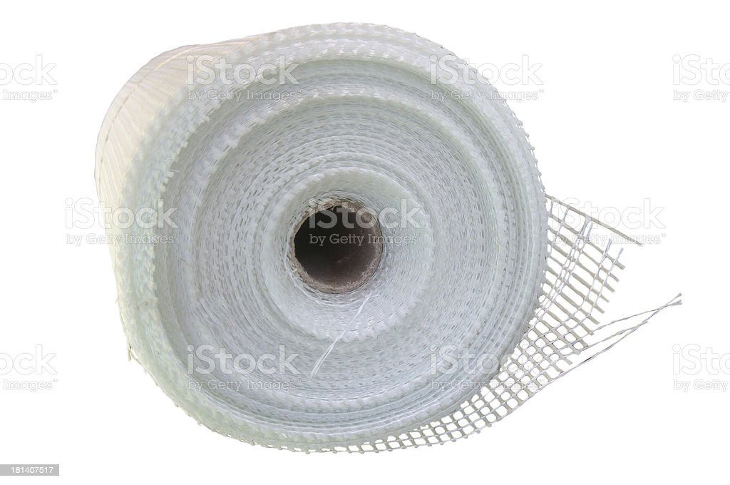 Fiberglass self-adhesive mesh stock photo