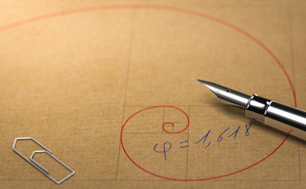 fibonacci, divine proportion and golden ratio. mathematics concept - golden ratio стоковые фото и изображения