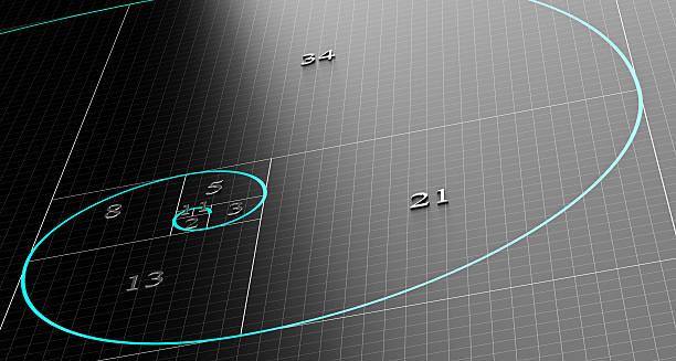 fibonacci spiral or sequence - 重複螺旋型 個照片及圖片檔