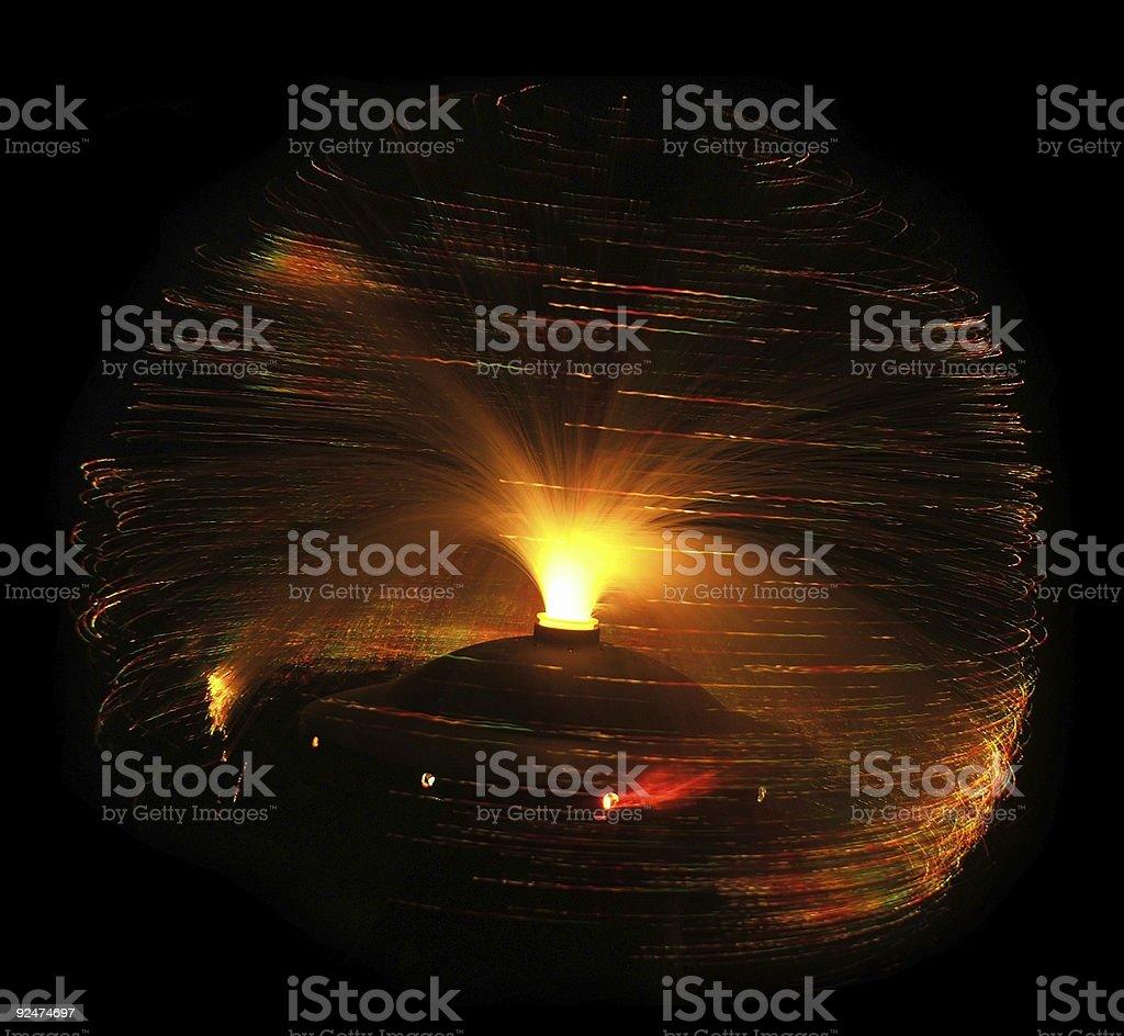 Fibre optic lamp royalty-free stock photo