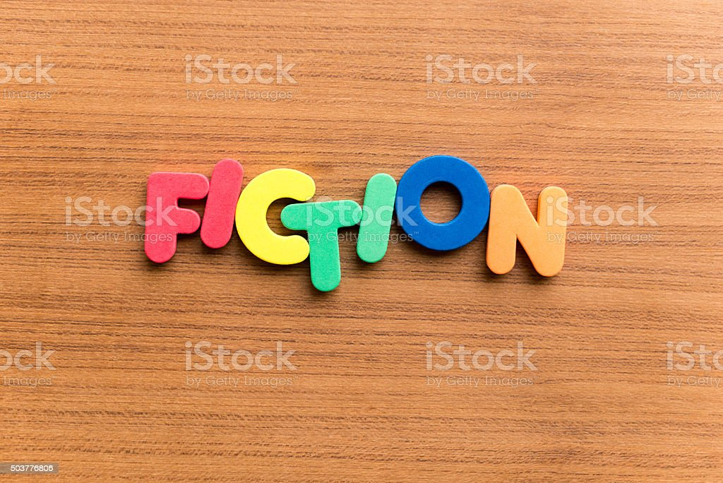 fiction colorful word stock photo