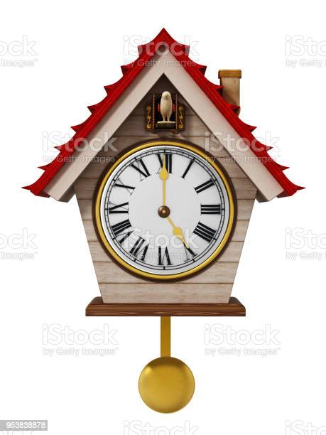 Fictitious cuckoo clock isolated on white picture id953838878?b=1&k=6&m=953838878&s=612x612&h=5i 0mf8xv6uoi2hjflsyzxmbgg4ulvjqwzdc6peisoi=