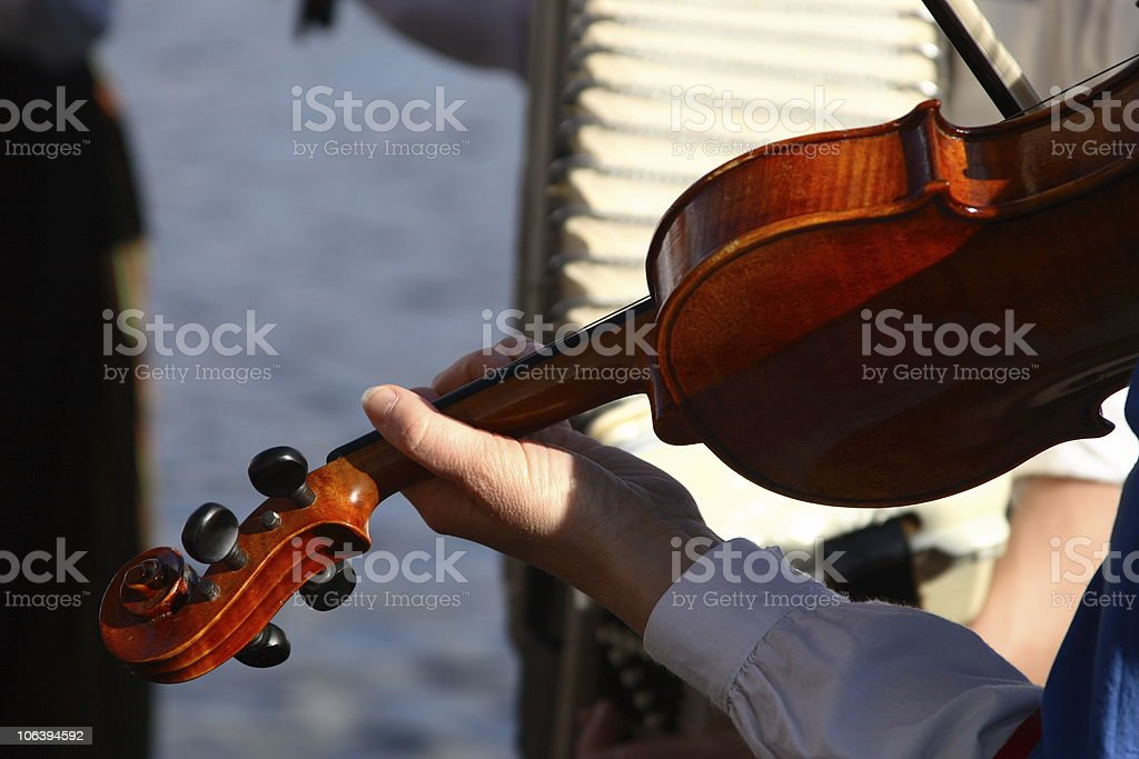 Fiddle player royalty-free stock photo