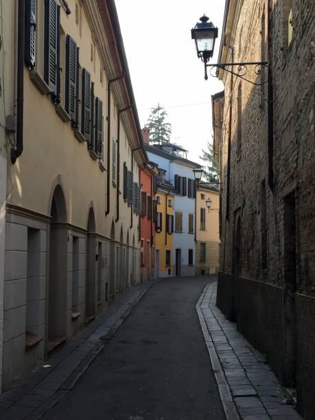 Fidenza, city street view